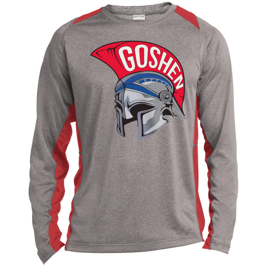 Heather Colorblock Long Sleeve T-Shirt - Goshen Helmet