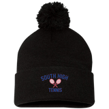 Pom Pom Knit Winter Hat - South Glens Falls Tennis