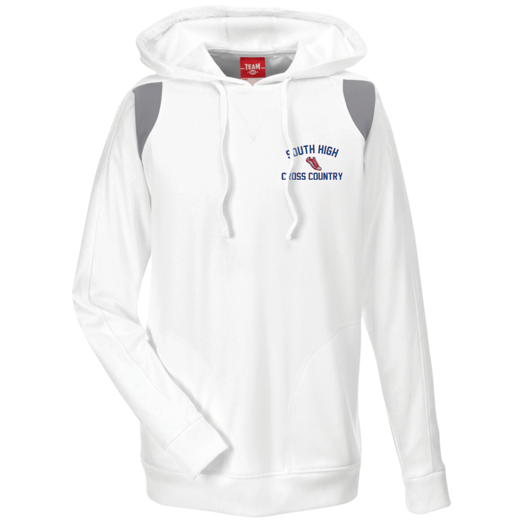 Men's Colorblock Hooded Sweatshirt - South Glens Falls Cross Country