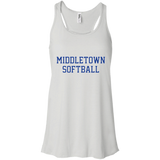Women's Racerback Tank Top - Middletown Softball - Block Logo