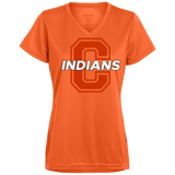 Women's Moisture Wicking T-Shirt - Cambridge Indians - C Logo