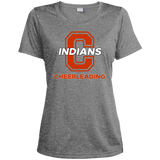 Women's Heather Moisture Wicking T-Shirt - Cambridge Cheerleading - C Logo