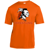 Youth Moisture Wicking T-Shirt - Cambridge Wrestling - Indian Logo