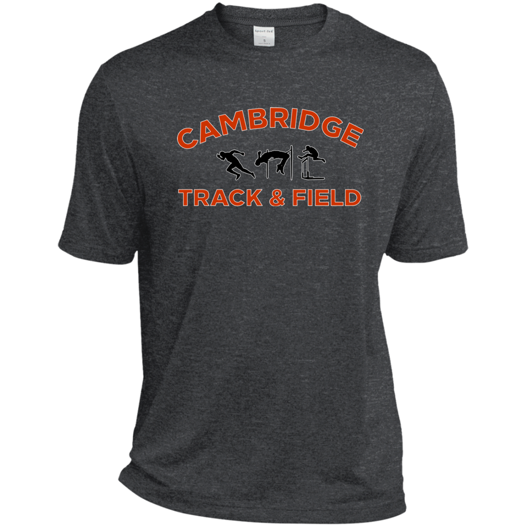 Men's Heather Moisture Wicking T-Shirt - Cambridge Track & Field