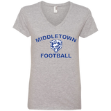Women's V-Neck T-Shirt - Middletown Football