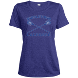 Women's Heather Moisture Wicking T-Shirt - Middletown Girls Lacrosse - Sticks Logo