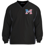 Colorblock V-Neck Pullover - Middletown American Flag
