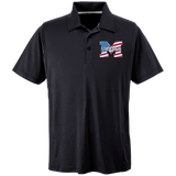 Men's Solid Moisture Wicking Polo - Middletown American Flag