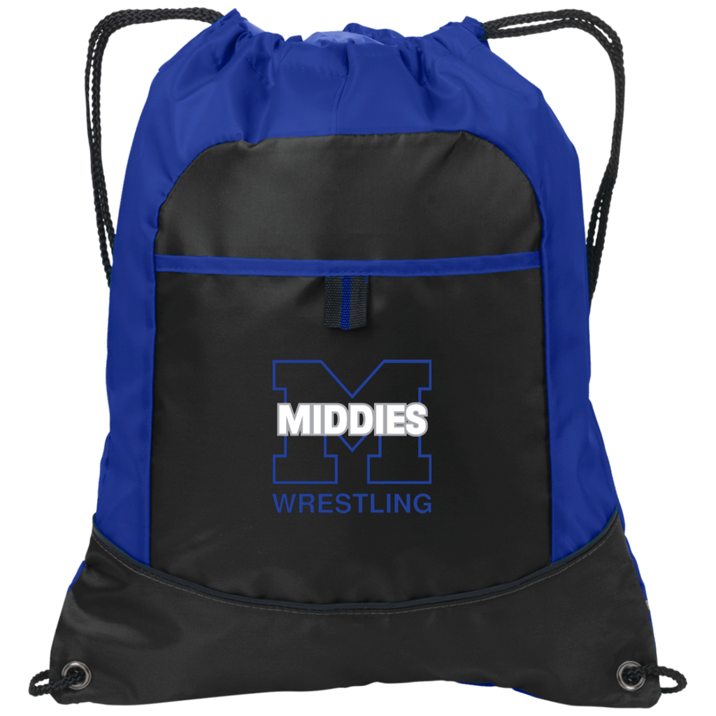 Drawstring Bag with Pocket - Middletown Wrestling
