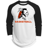 3/4 Sleeve Baseball T-Shirt - Cambridge Basketball - Indian Logo