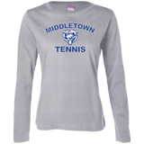 Women's Long Sleeve T-Shirt - Middletown Tennis - Bear Logo