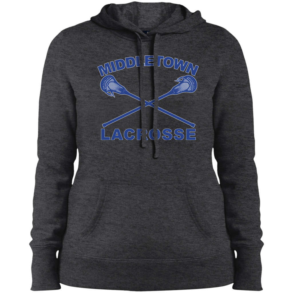 Women's Hooded Sweatshirt - Middletown Girls Lacrosse - Sticks Logo