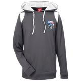 Men's Colorblock Hooded Sweatshirt - Goshen American Flag