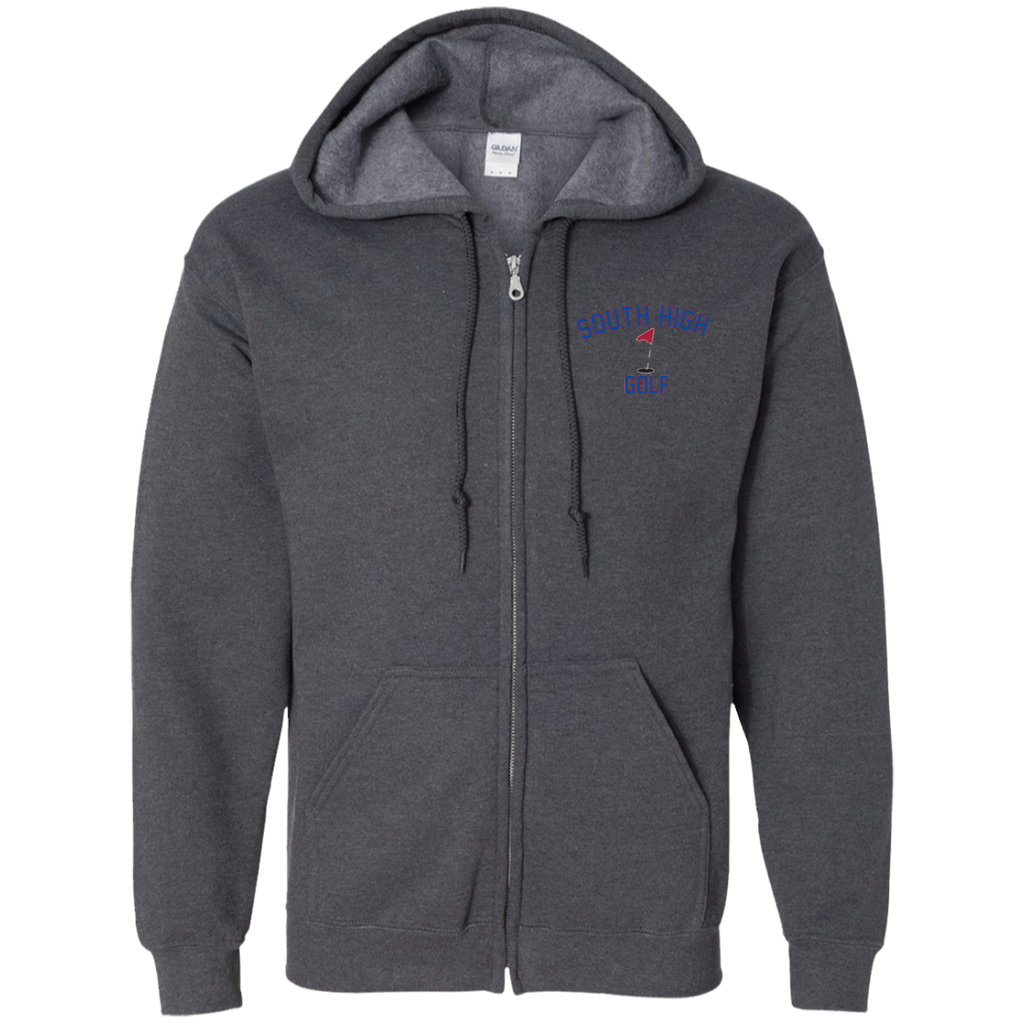 Men's Full-Zip Hooded Sweatshirt - South Glens Falls Golf
