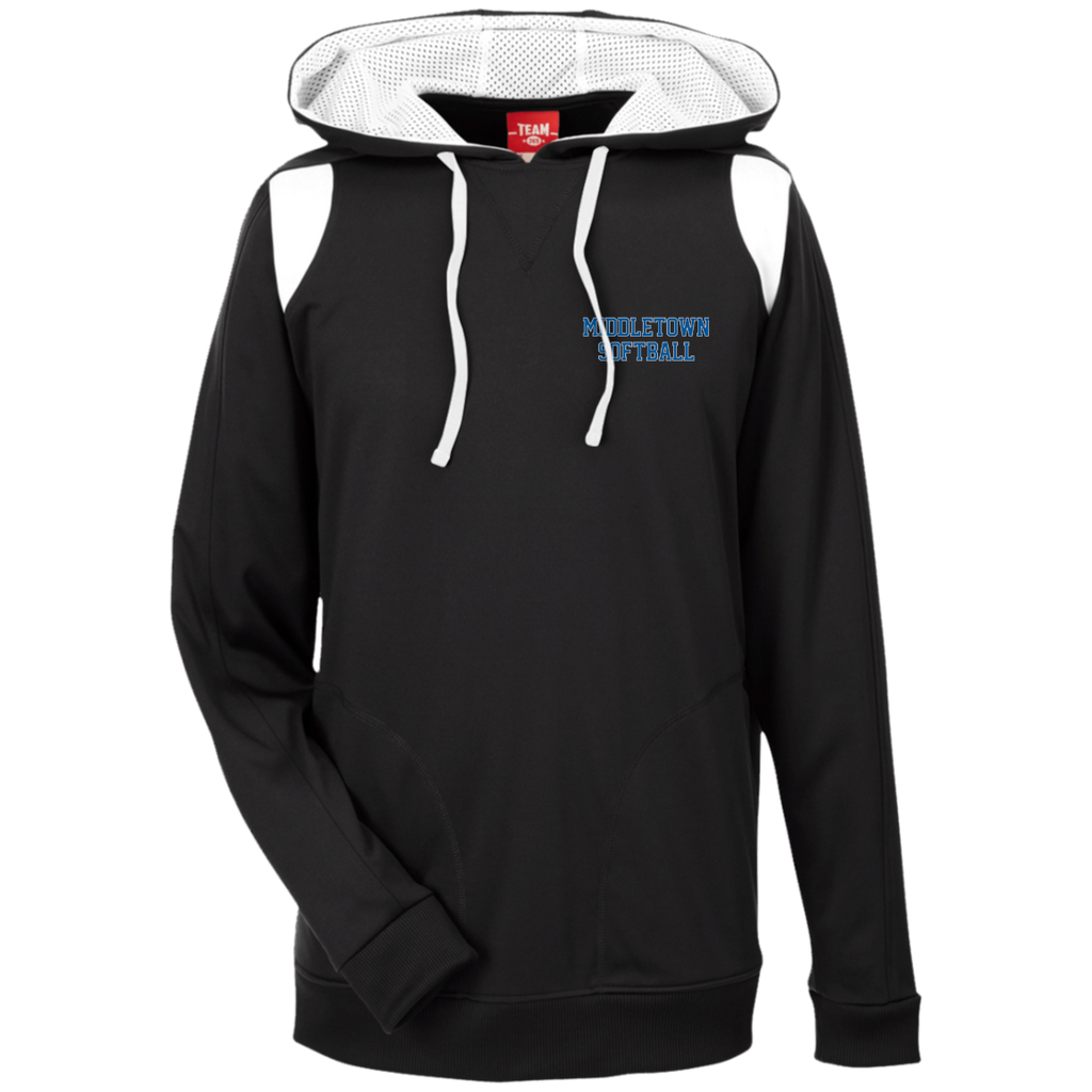 Men's Colorblock Hooded Sweatshirt - Middletown Softball - Block Logo
