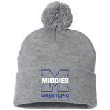 Pom Pom Knit Winter Hat - Middletown Wrestling