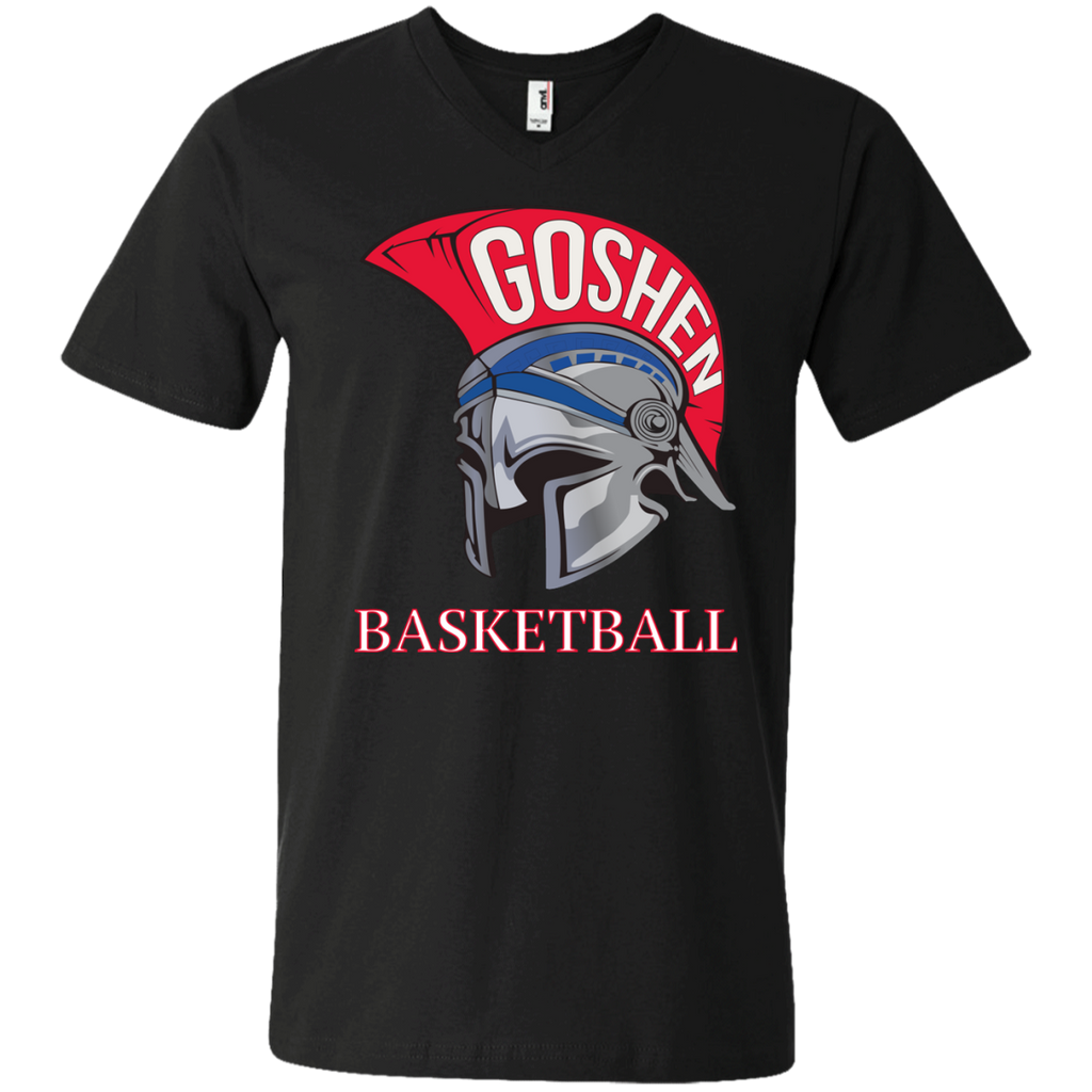 Men's V-Neck T-Shirt - Goshen Basketball