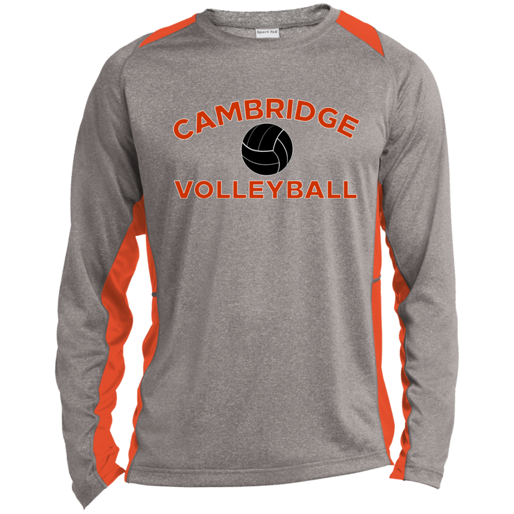Heather Colorblock Long Sleeve T-Shirt - Cambridge Volleyball