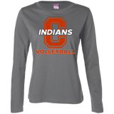 Women's Long Sleeve T-Shirt - Cambridge Volleyball - C Logo