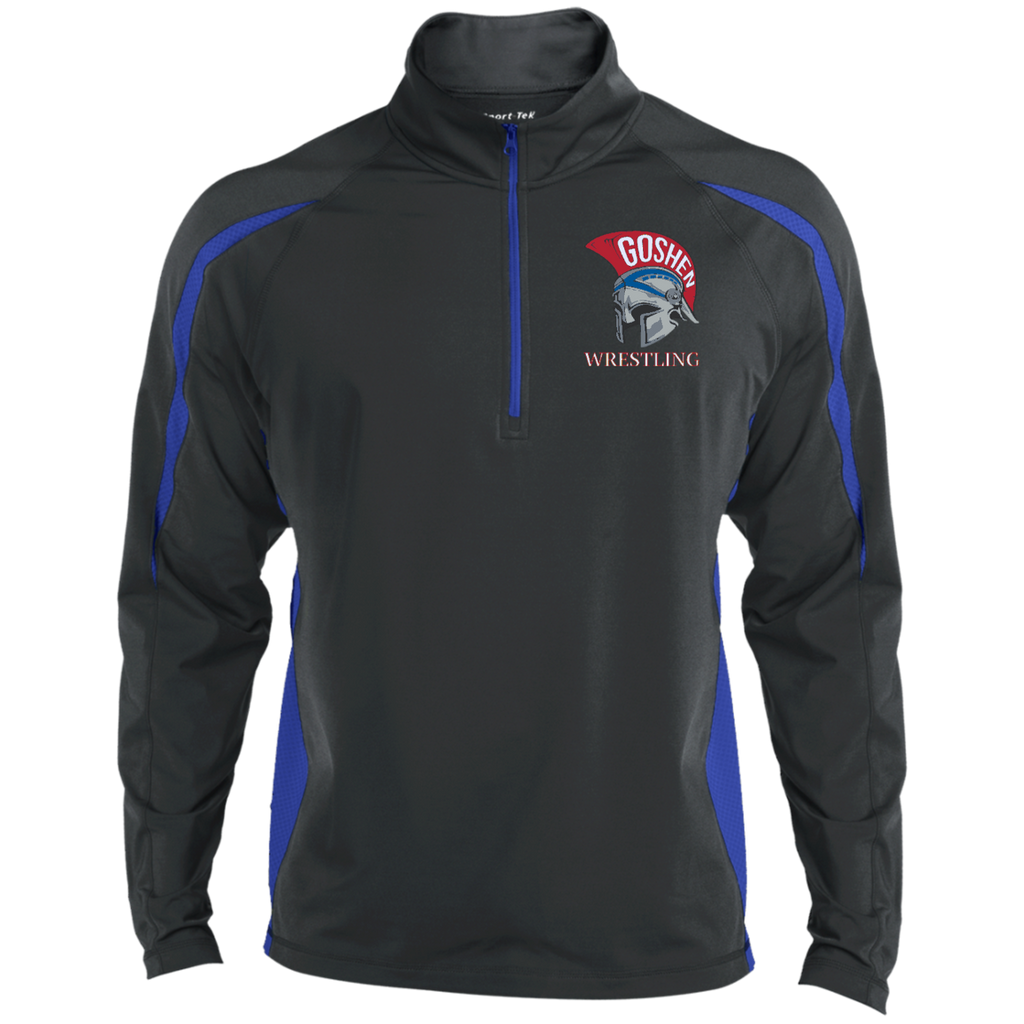 Men's Sport Wicking Half-Zip - Goshen Wrestling