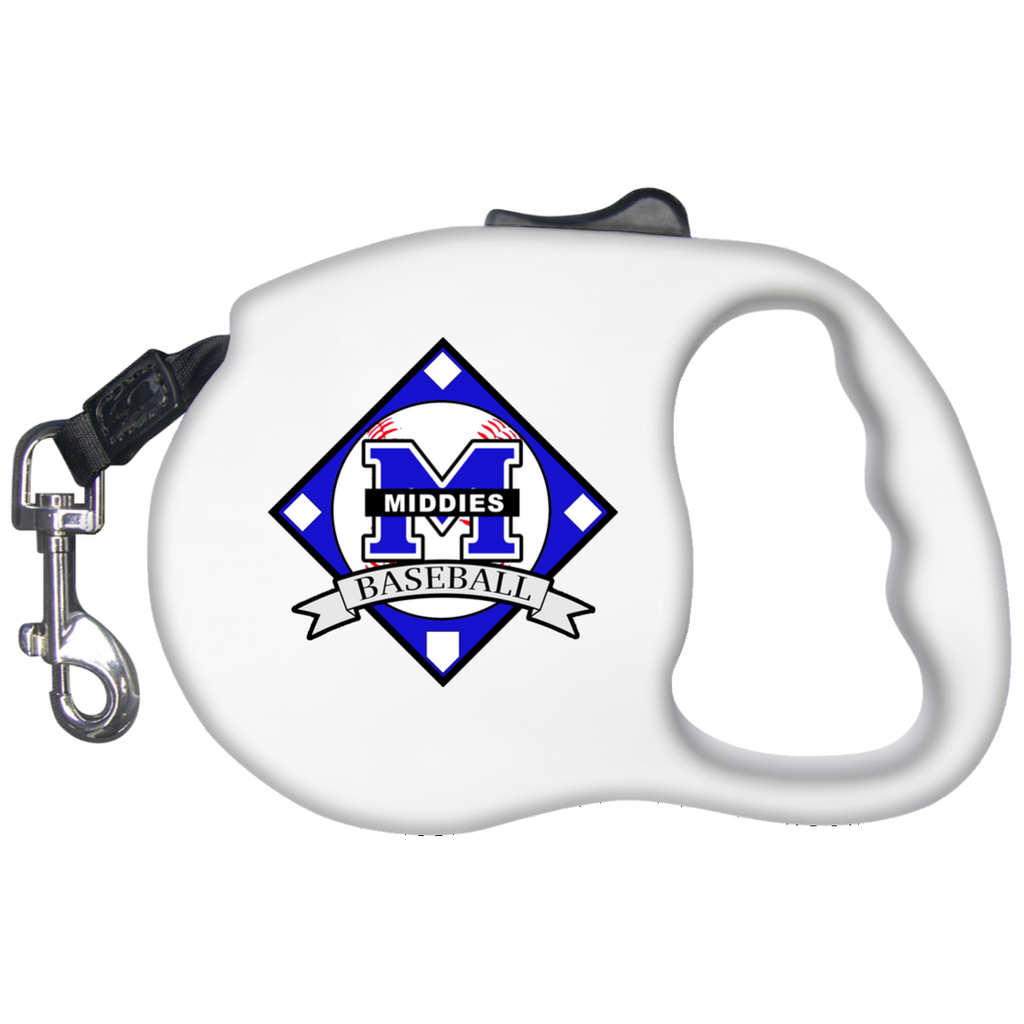Retractable Dog Leash - Middletown Baseball - Diamond Logo