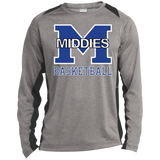 Heather Colorblock Long Sleeve T-Shirt - Middletown Girls Basketball