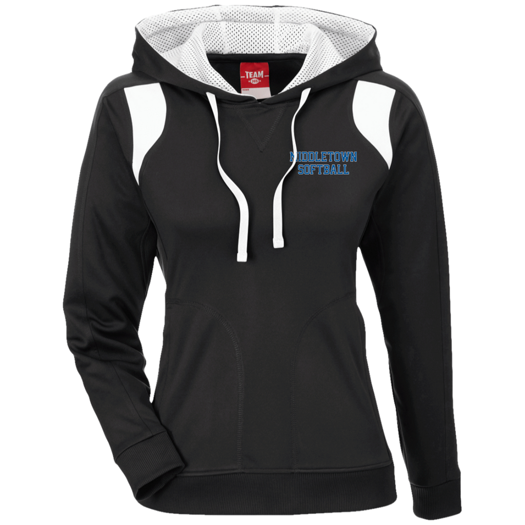 Women's Colorblock Hooded Sweatshirt - Middletown Softball - Block Logo