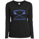 Women's Moisture Wicking Long Sleeve T-Shirt - Middletown Girls Lacrosse - Sticks Logo