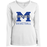Women's Moisture Wicking Long Sleeve T-Shirt - Middletown Girls Basketball