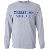 Youth Long Sleeve T-Shirt - Middletown Softball - Block Logo
