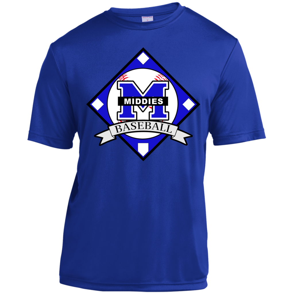 Men's Moisture Wicking T-Shirt - Middletown Baseball - Diamond Logo
