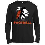 Men's Moisture Wicking Long Sleeve T-Shirt - Cambridge Football - Indian Logo