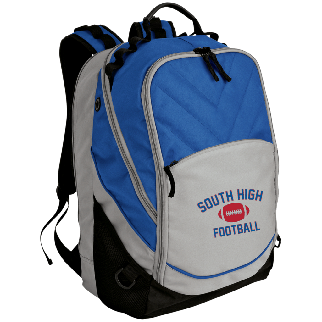 Football Vector Logo Outline_Pantone BG100 Port Authority Laptop Computer Backpack