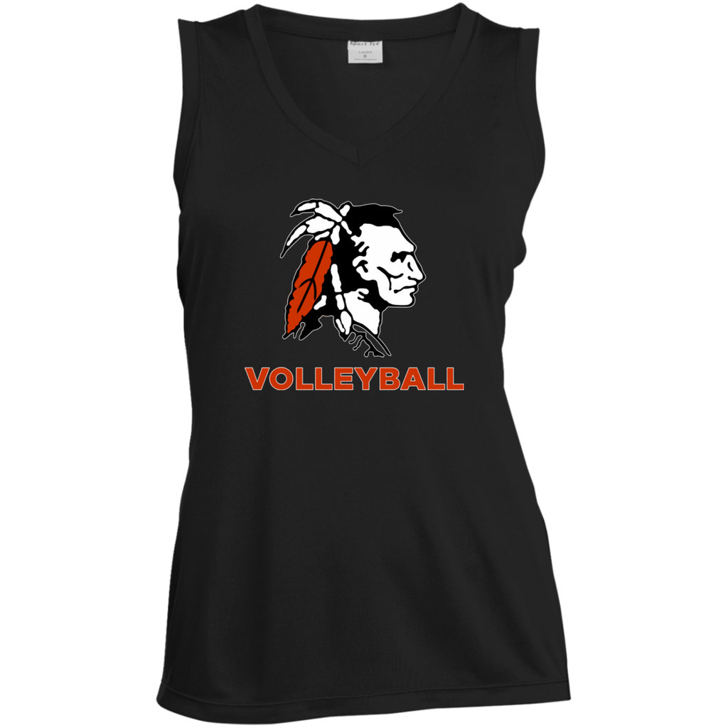 Women's Moisture Wicking Tank Top - Cambridge Volleyball - Indian Logo