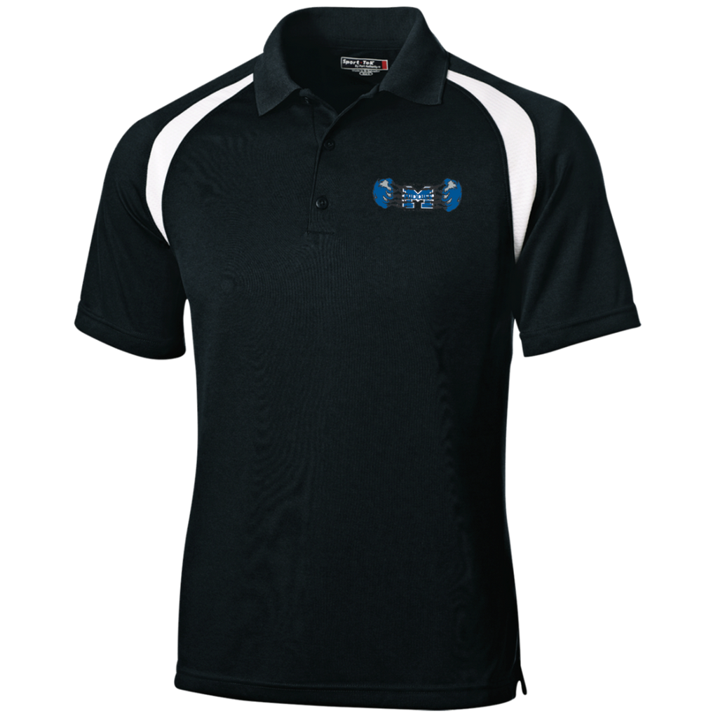 Men's Colorblock Slim Fit Moisture Wicking Polo - Middletown Unified Basketball