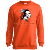 Youth Crewneck Sweatshirt - Cambridge Cheerleading - Indian Logo