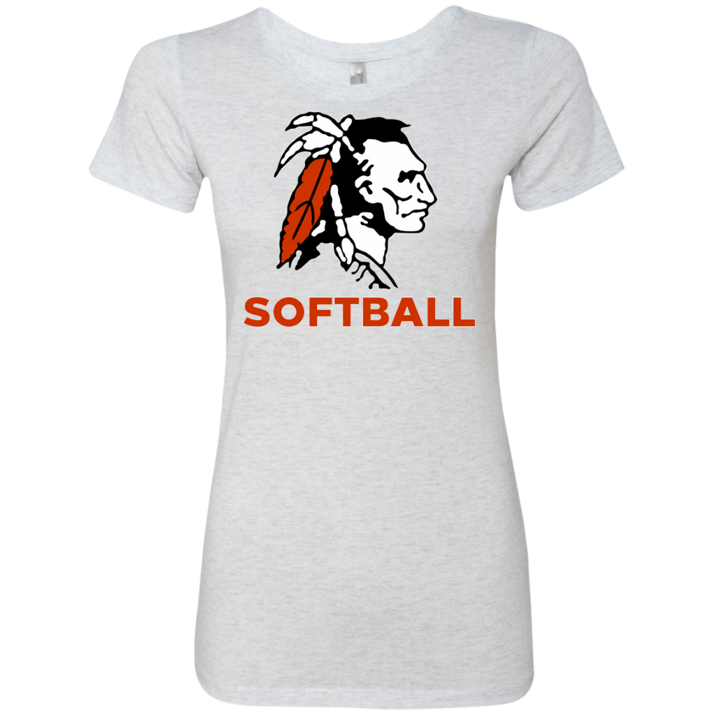 Women's Premium T-Shirt - Cambridge Softball - Indian Logo