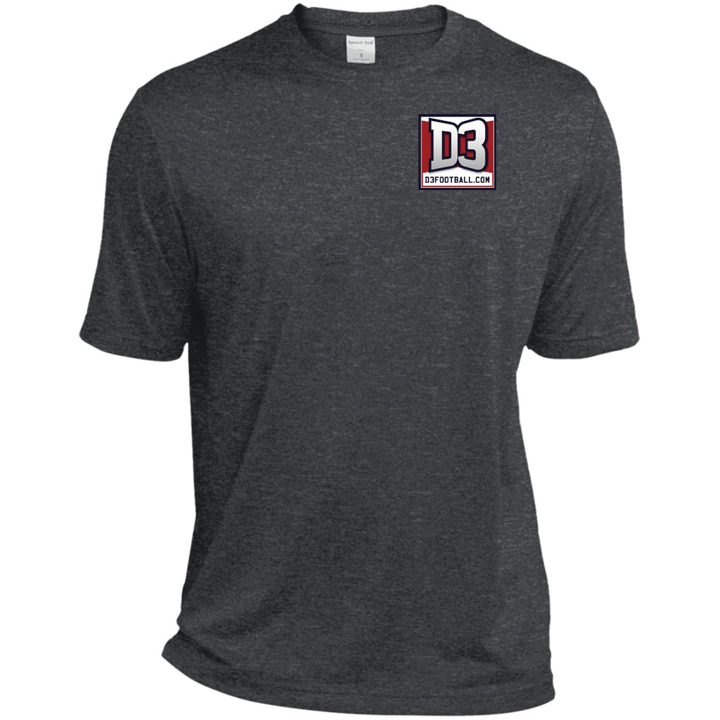 Men's Heather Moisture Wicking T-Shirt - D3Football.com