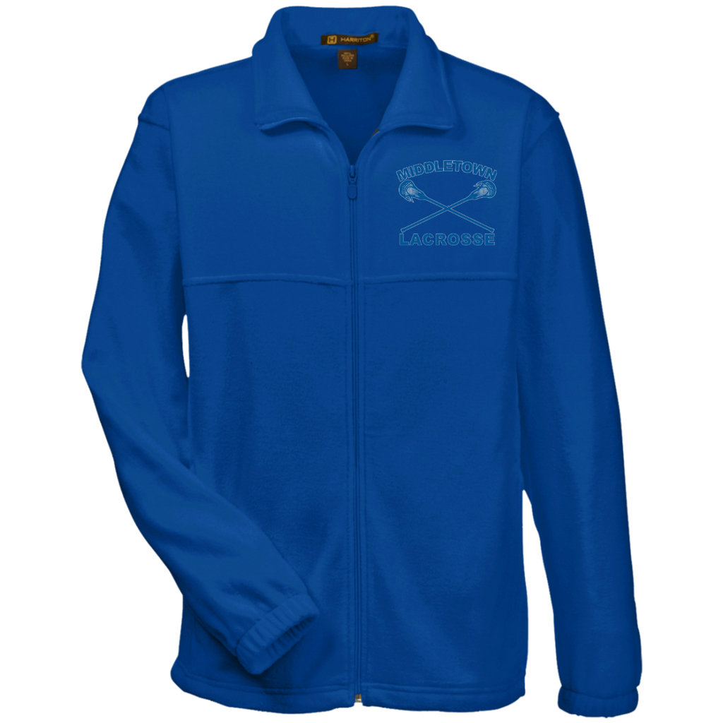 Men's Full-Zip Fleece - Middletown Girls Lacrosse - Sticks Logo