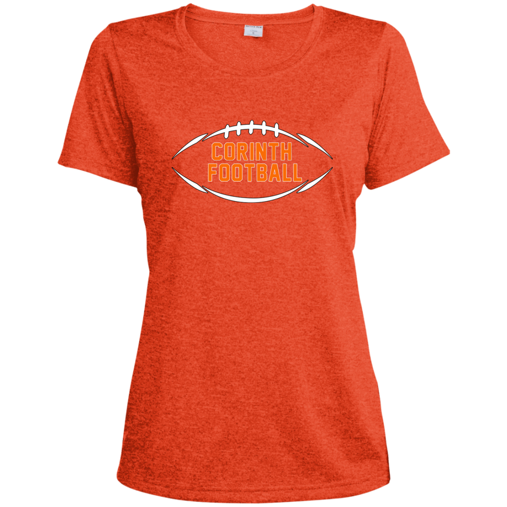 Women's Heather Moisture Wicking T-Shirt - Corinth Football