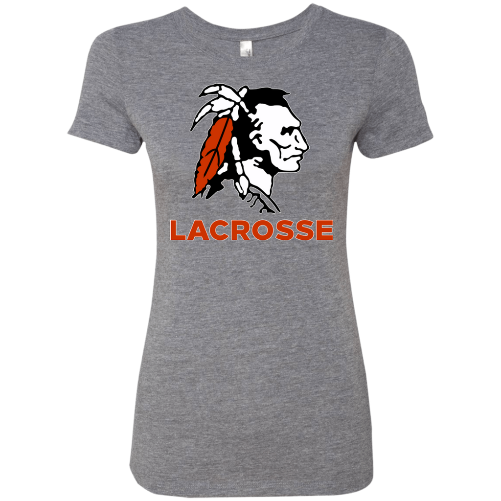 Women's Premium T-Shirt - Cambridge Lacrosse - Indian Logo