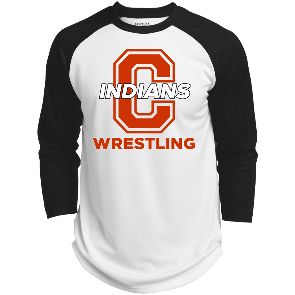 3/4 Sleeve Baseball T-Shirt - Cambridge Wrestling - C Logo