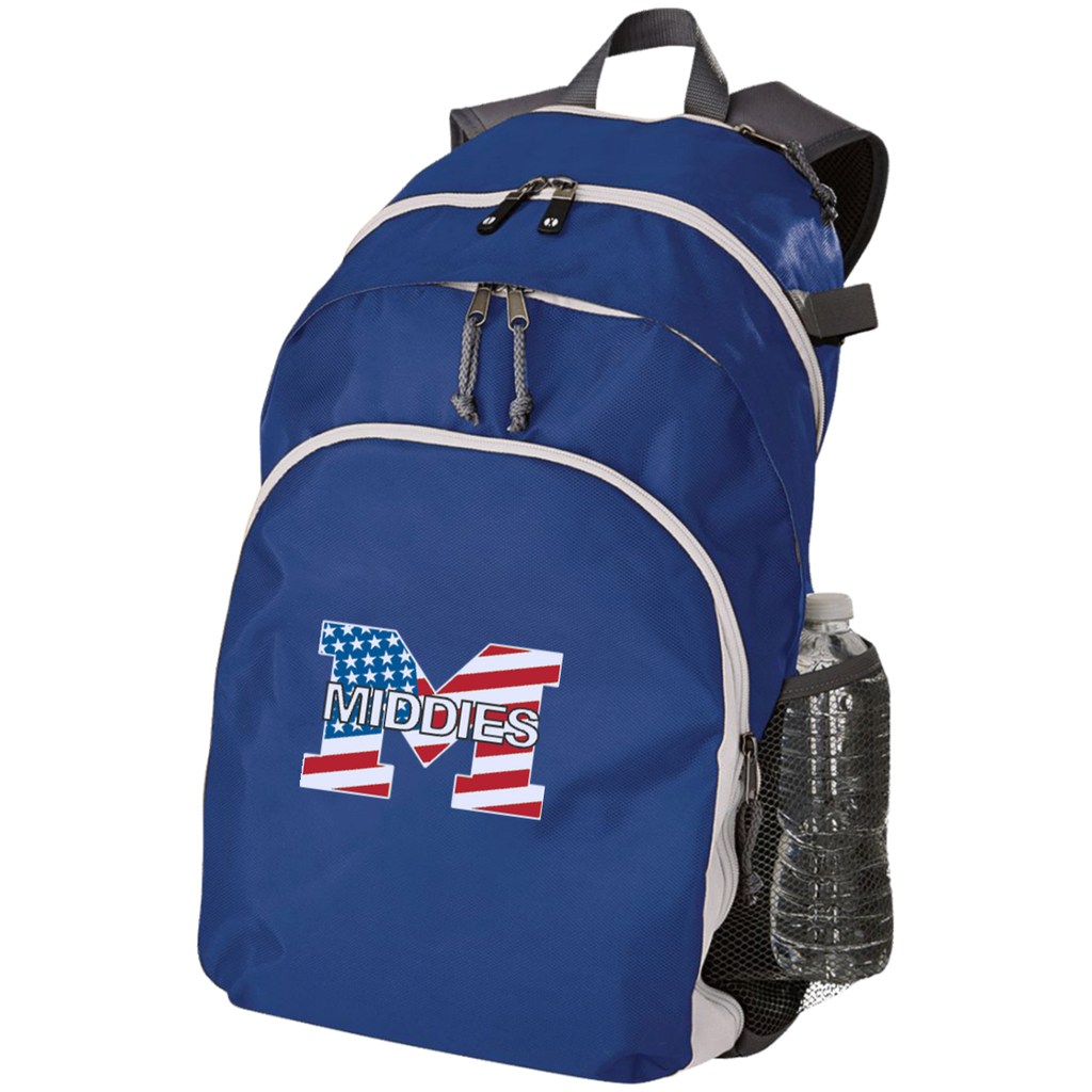 Large Laptop Backpack - Middletown American Flag