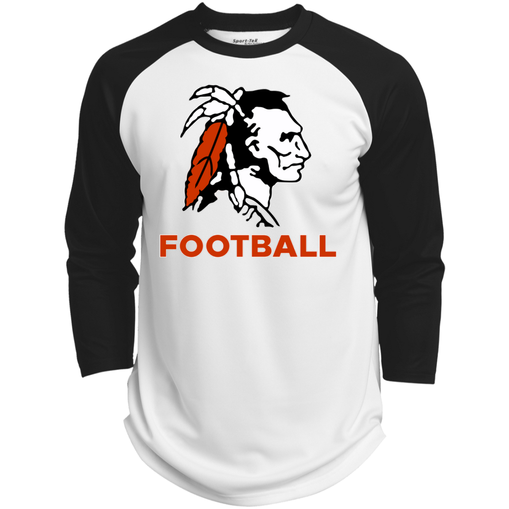 3/4 Sleeve Baseball T-Shirt - Cambridge Football - Indian Logo