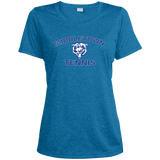 Women's Heather Moisture Wicking T-Shirt - Middletown Tennis - Bear Logo