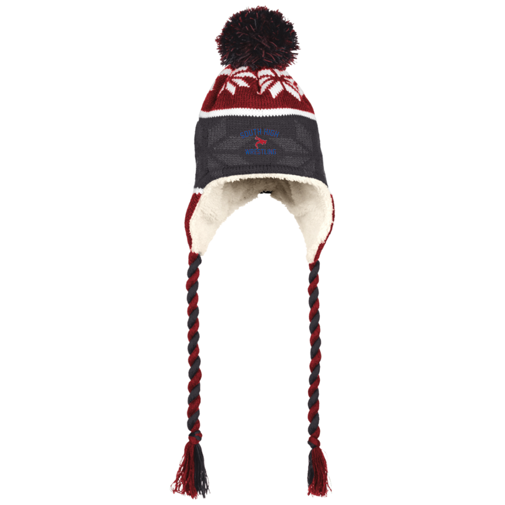 Winter Hat with Ear Flaps - South Glens Falls Wrestling