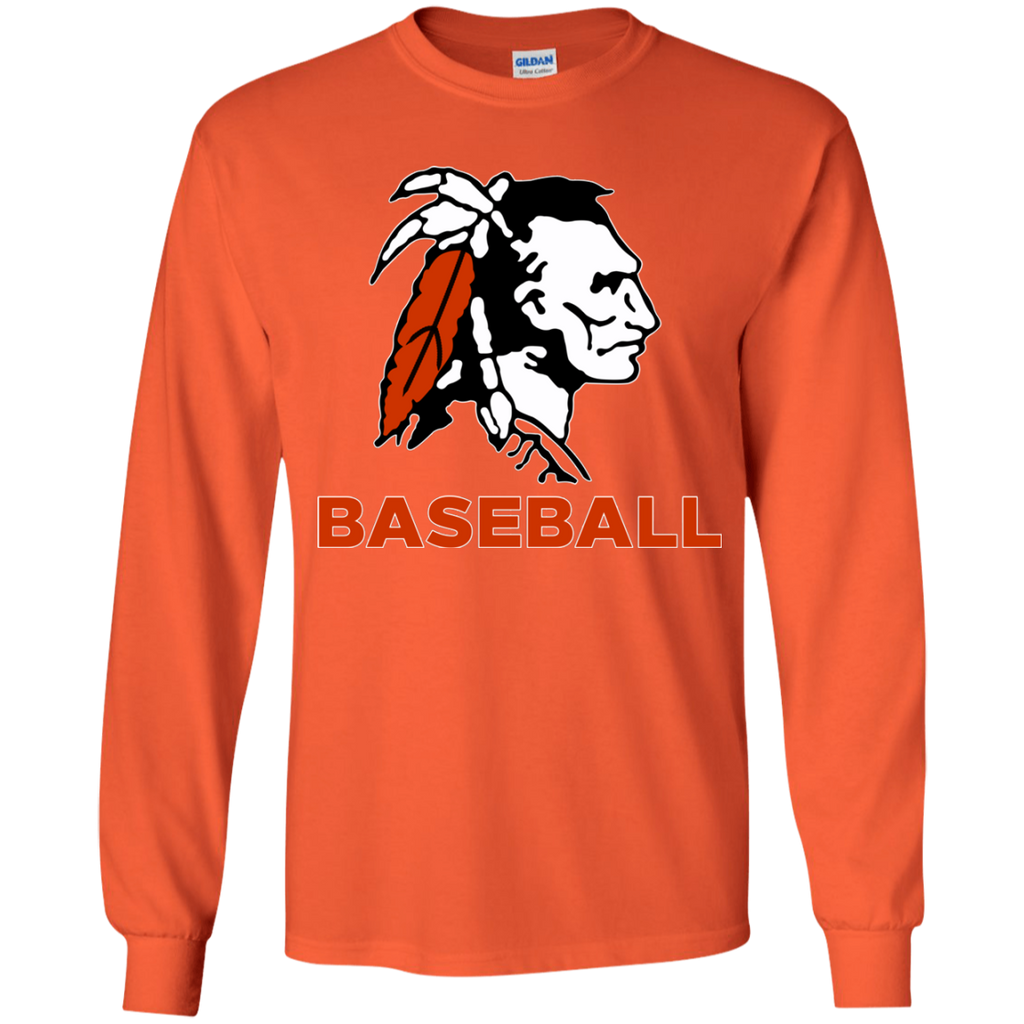 Youth Long Sleeve T-Shirt - Cambridge Baseball - Indian Logo