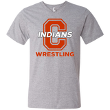 Men's V-Neck T-Shirt - Cambridge Wrestling - C Logo