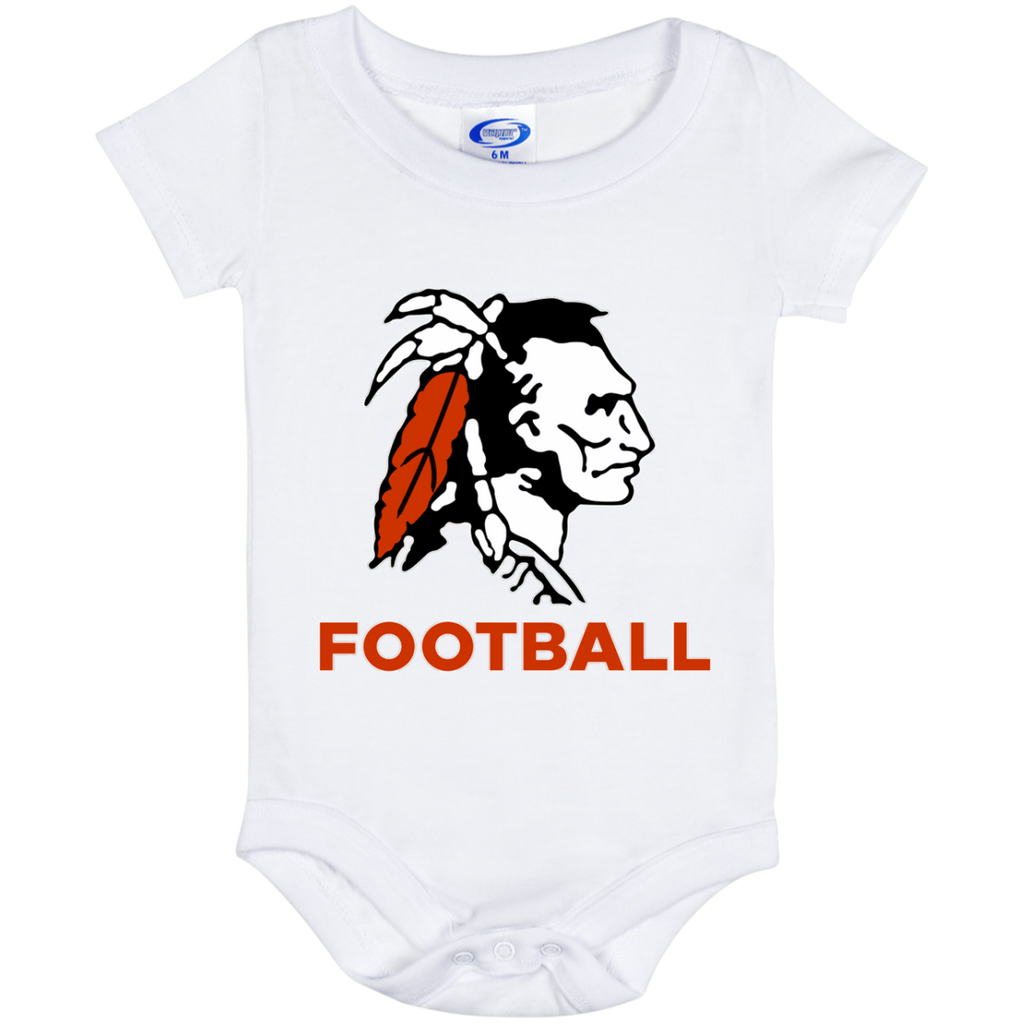 Baby Onesie 6 Month - Cambridge Football - Indian Logo