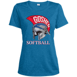 Women's Heather Moisture Wicking T-Shirt - Goshen Softball